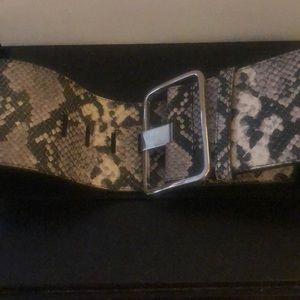Club Monaco python embossed leather belt